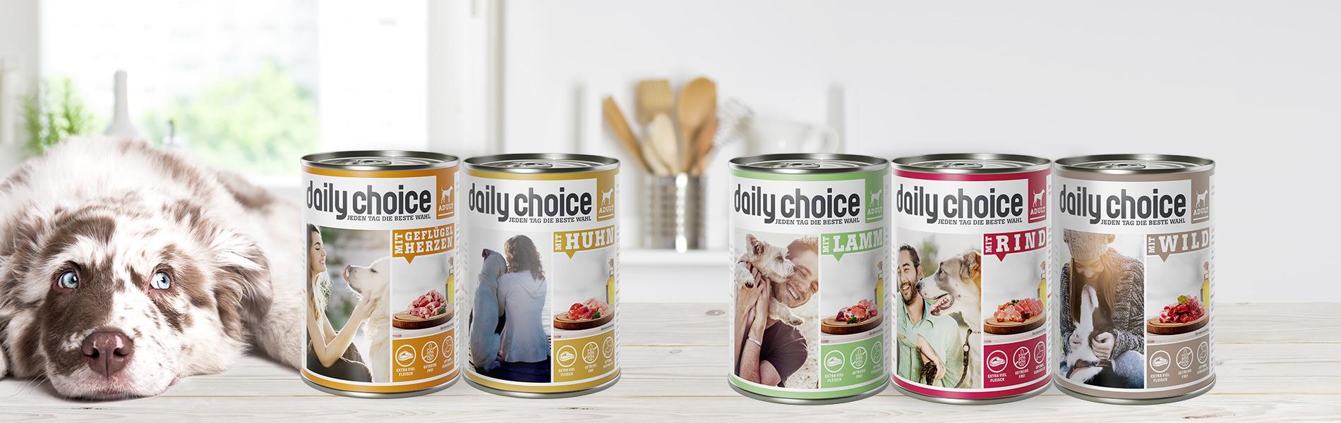 daily choice Hund Nassfutter Fleischmenü Getreidefrei