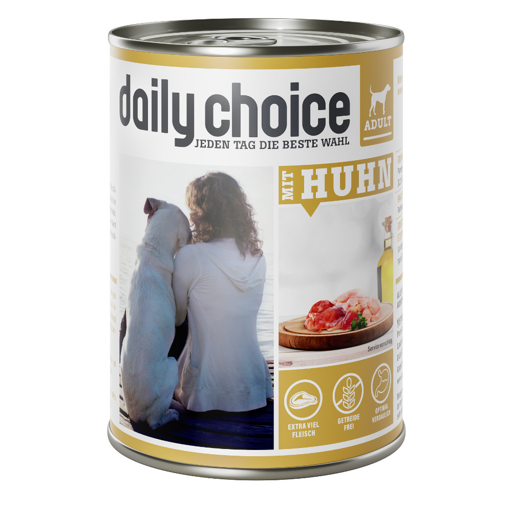 daily choice Hund Nassfutter mit Huhn