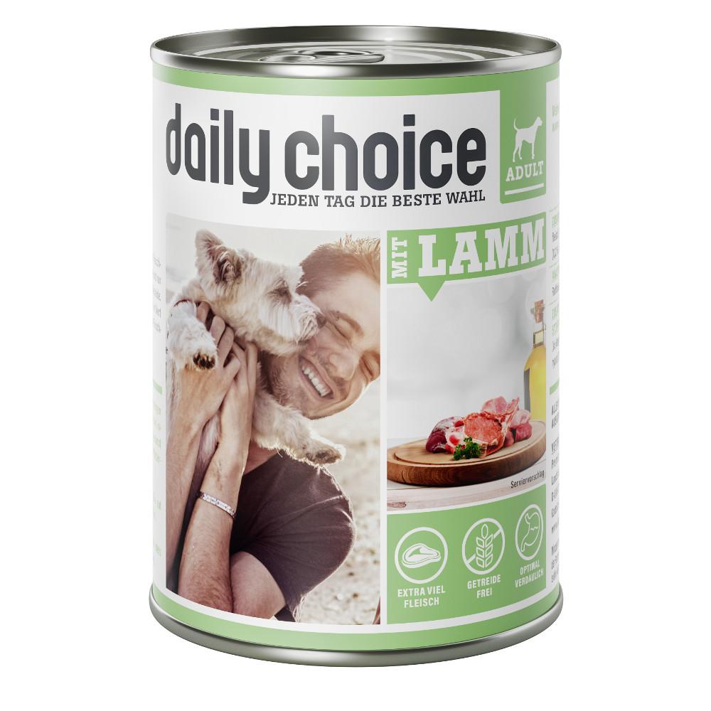 daily choice Hund Nassfutter mit Lamm