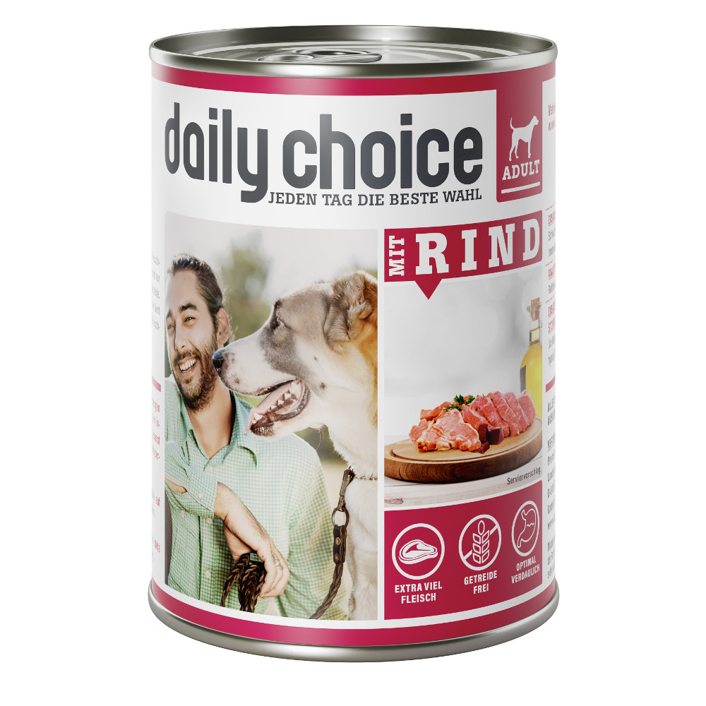 daily choice Hund Nassfutter mit Rind