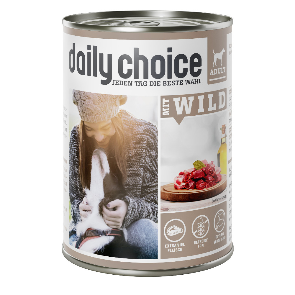 daily choice Hund Nassfutter mit Wild