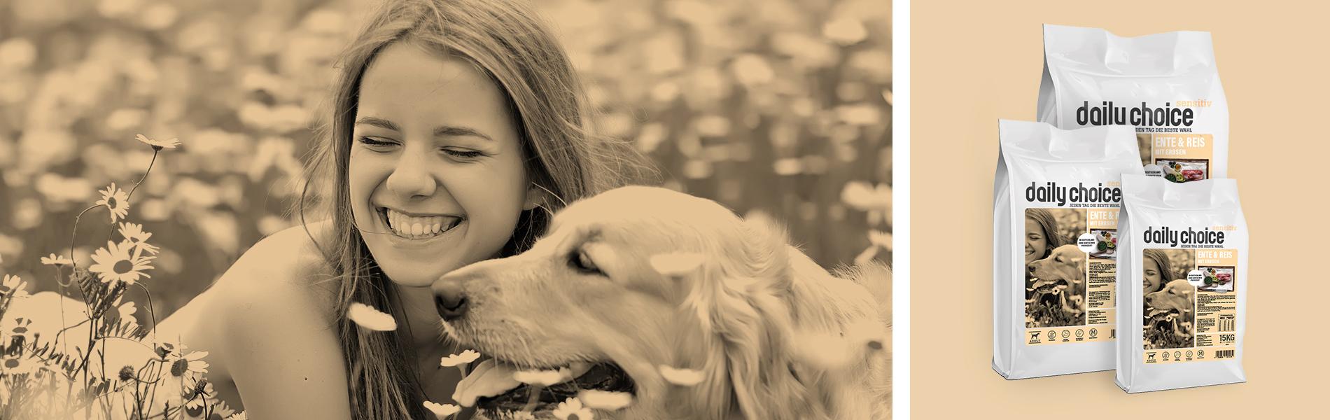 daily choice Hund Trockenfutter Sensitiv Ente und Reis