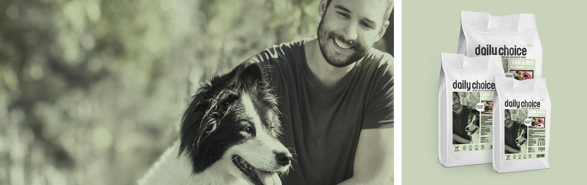 daily choice Hund Trockenfutter Sensitiv Lamm und Reis
