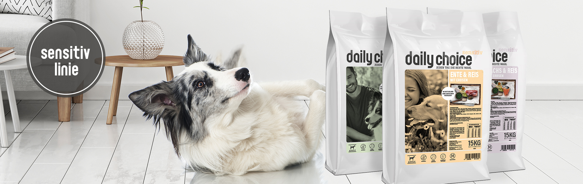 daily choice Hund Trockenfutter Sensitiv made in Germany