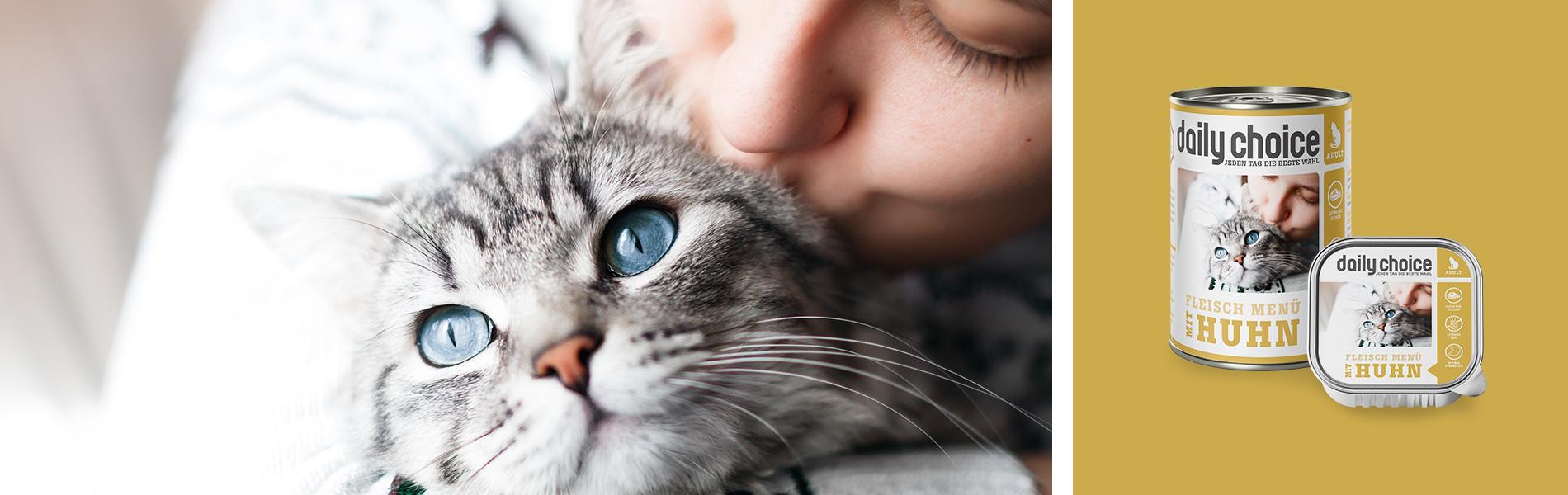 daily-choice Katze Nassfutter Huhn Fleischmenue getreidefrei