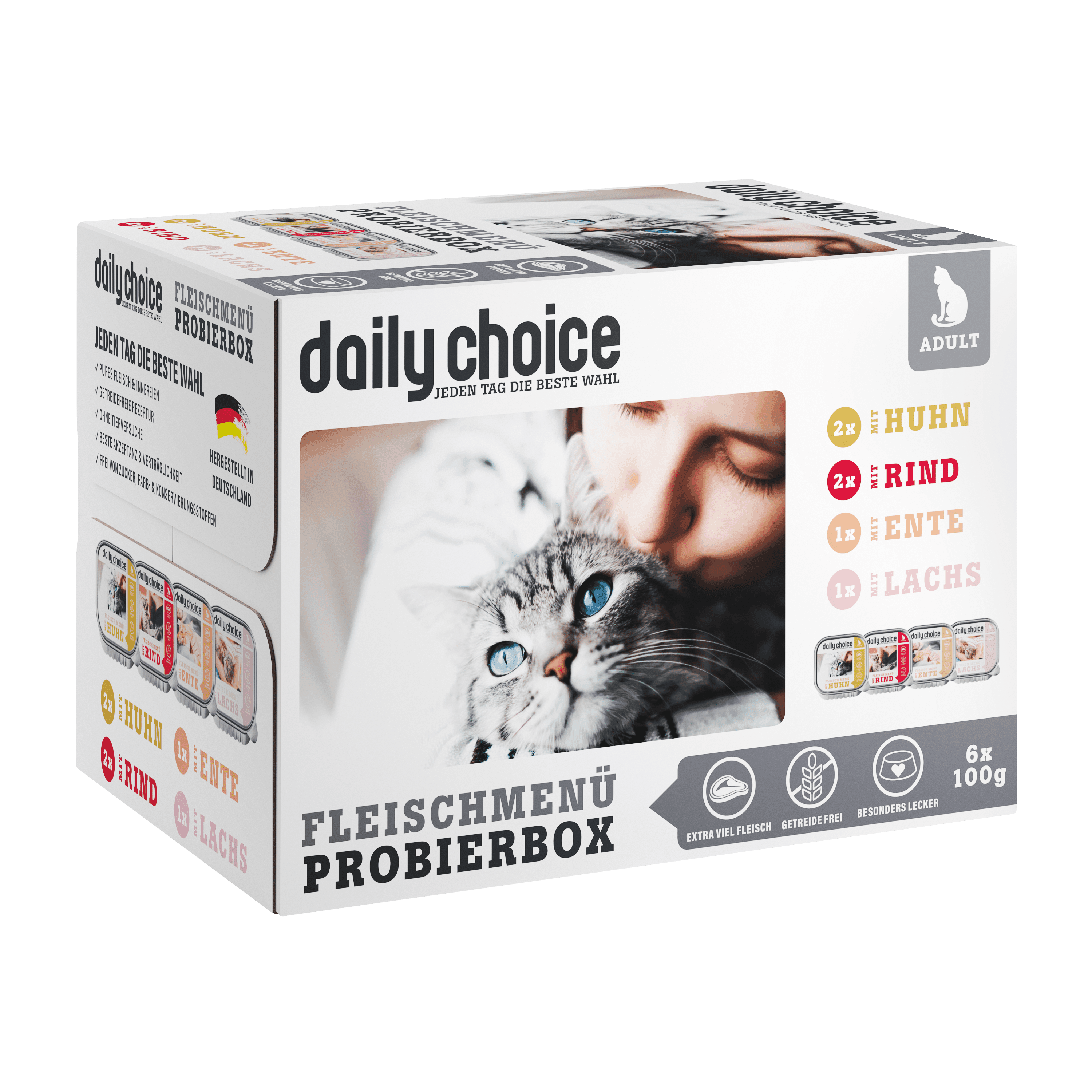 daily-choice Katze Nassfutter Probierbox