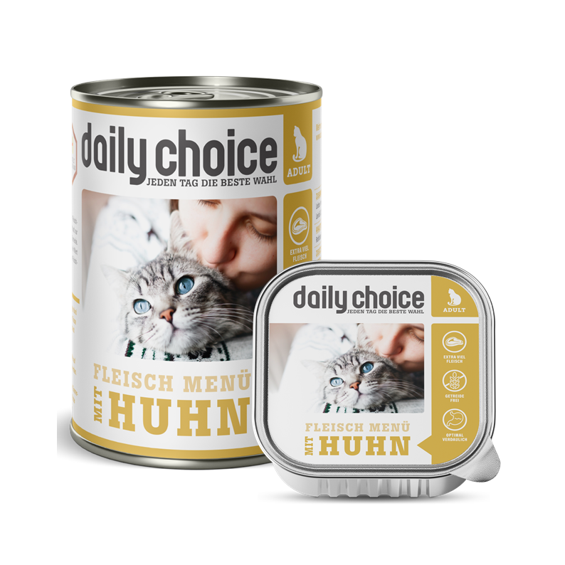 daily-choice Katze Nassfutter mit Huhn