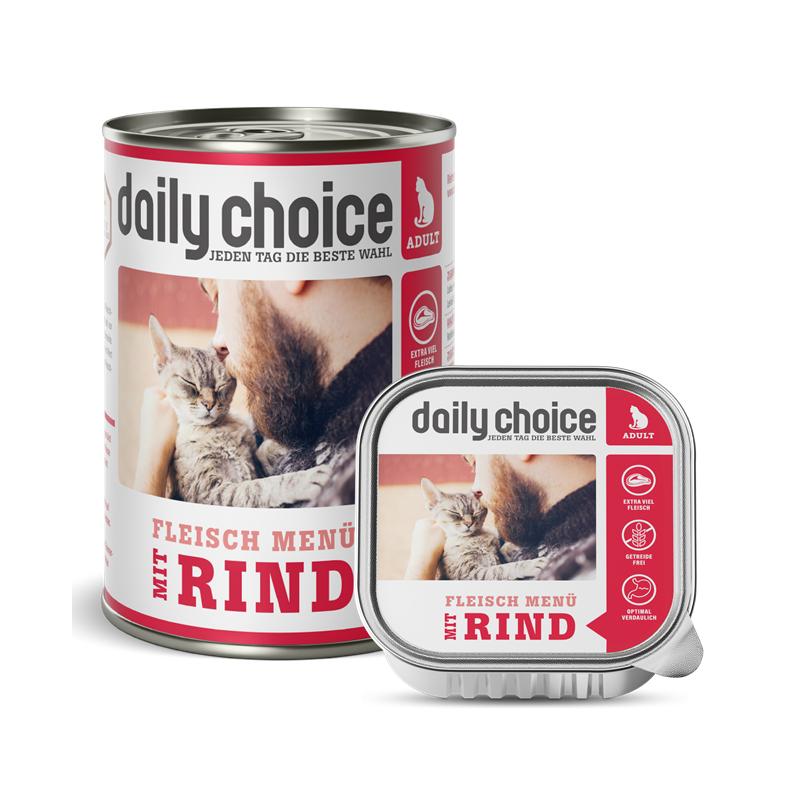 daily-choice Katze Nassfutter mit Rind