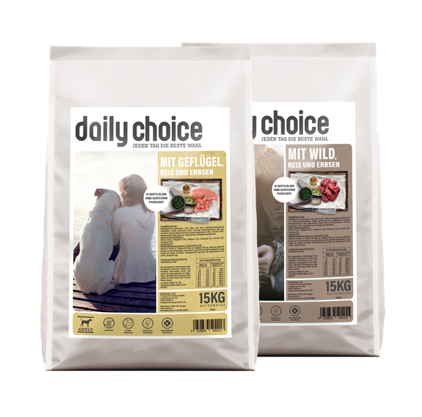 daily choice Trockenfutter Hund basic