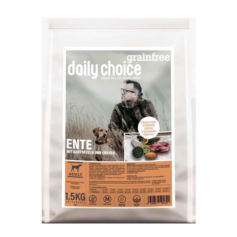 daily choice Trockenfutter Hund grainfree Ente