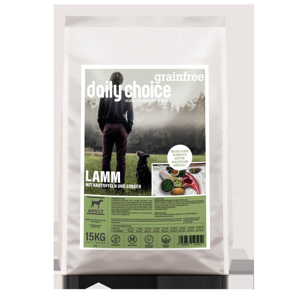 daily choice Trockenfutter Hund grainfree Lamm