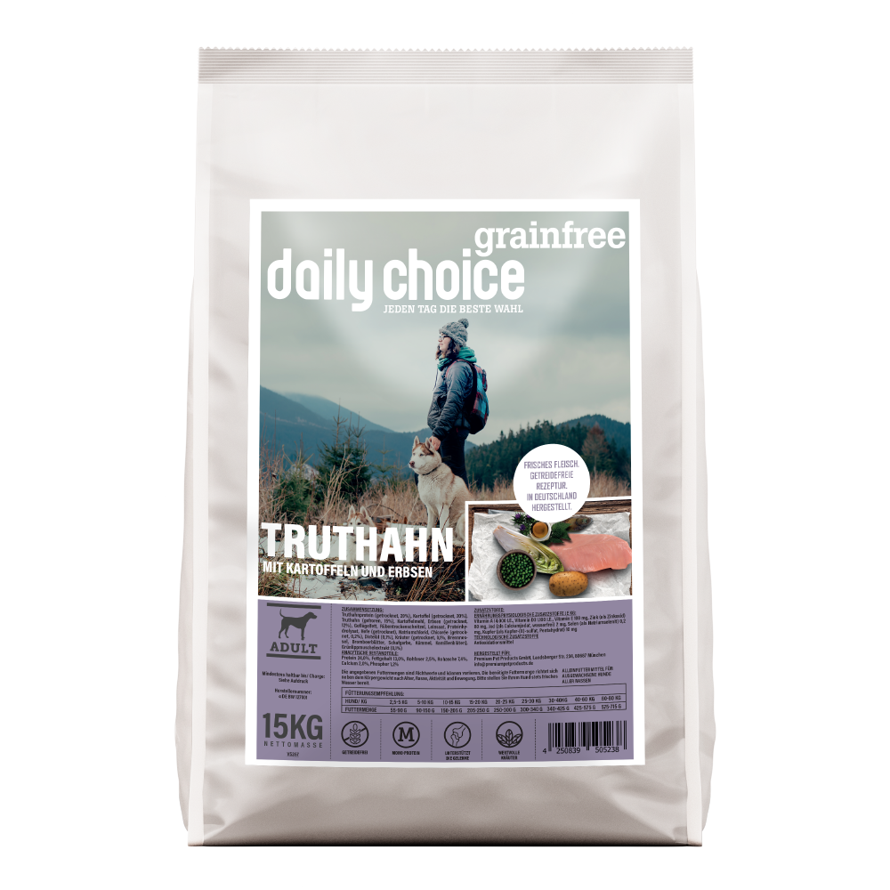 daily choice Trockenfutter Hund grainfree Truthahn