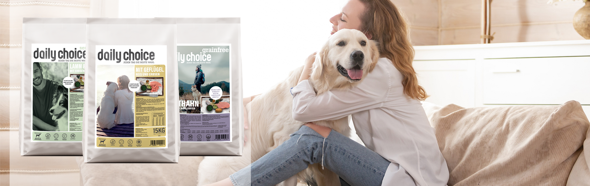 daily-choice-trockenfutter hund hundefutter basic sensitiv grainfree