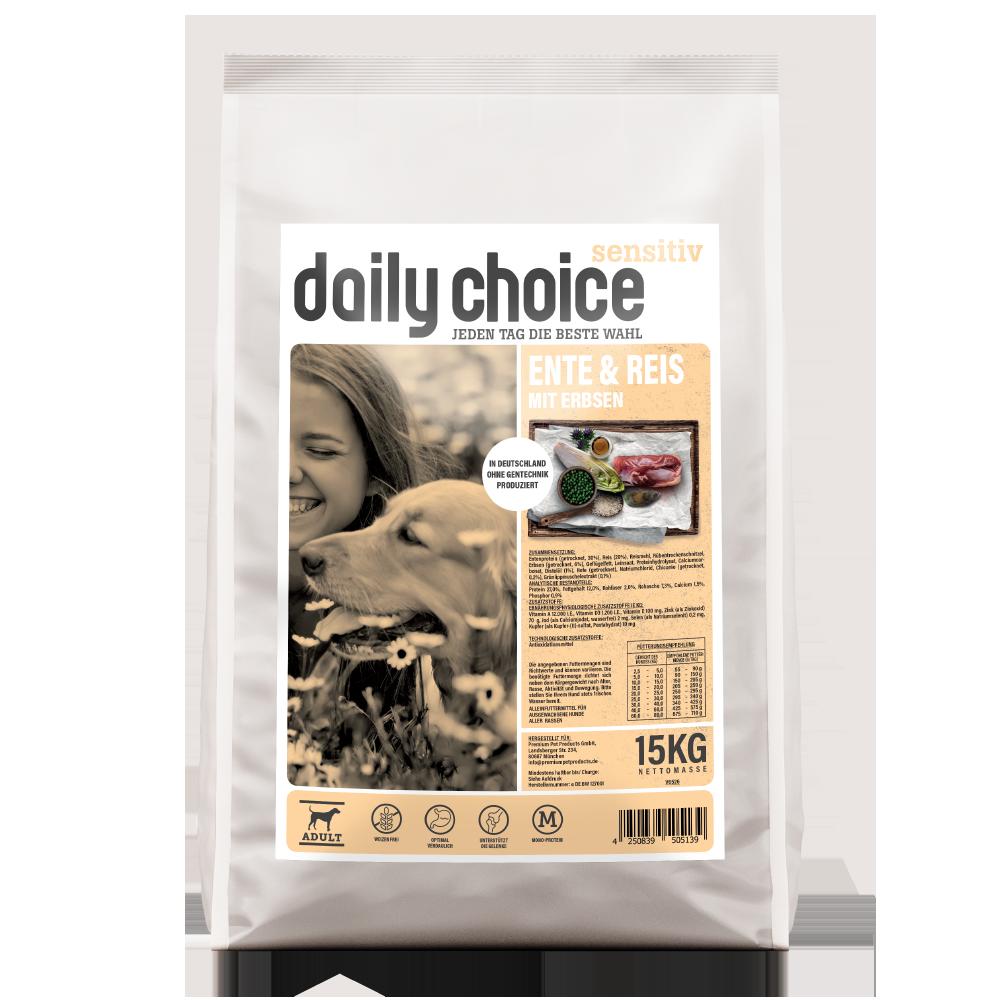 daily choice Trockenfutter Hund sensitiv Ente und Reis