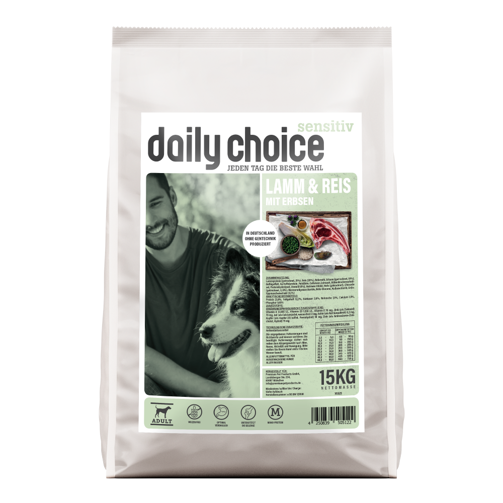 daily choice Sensitive Lamm und Reis